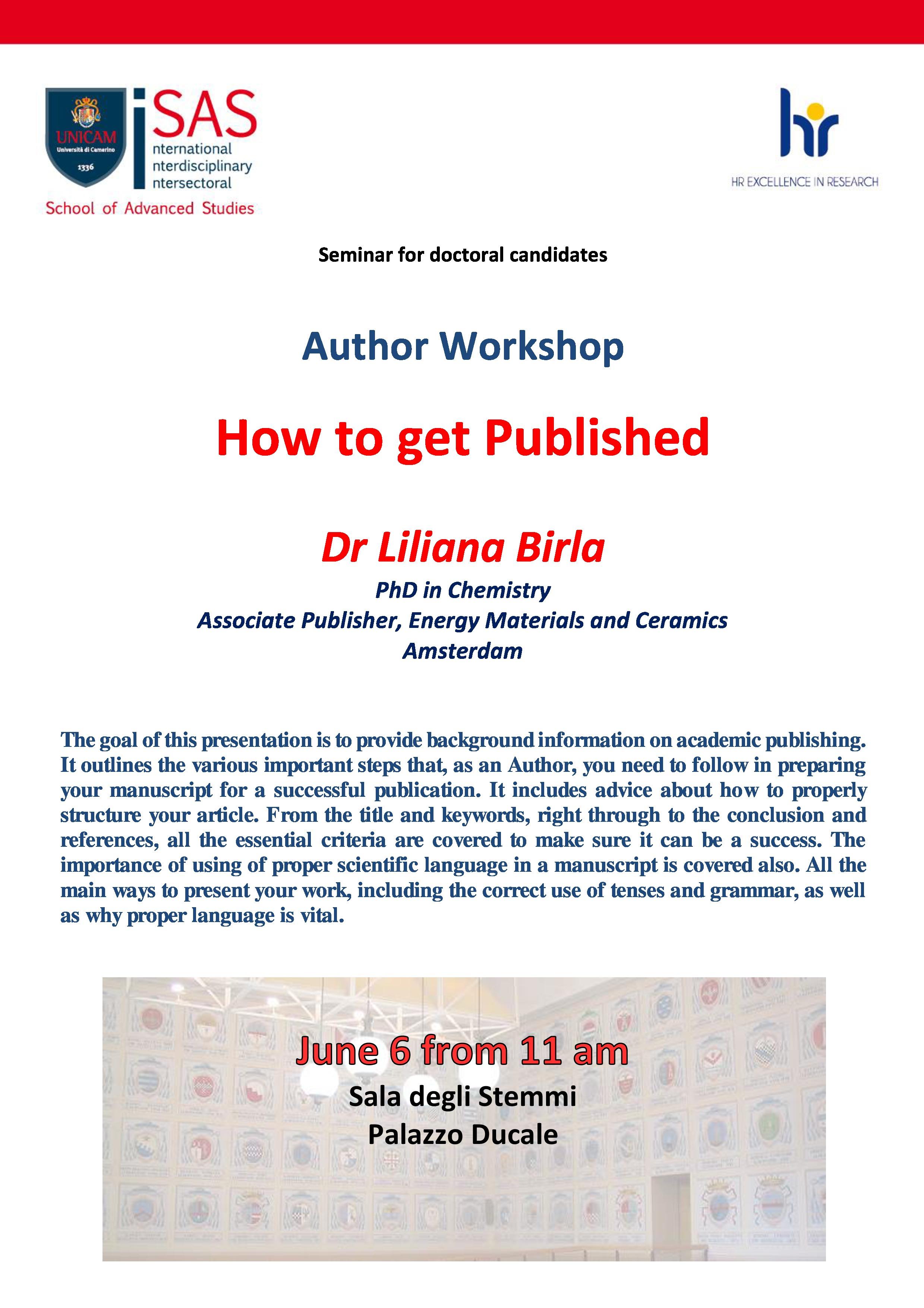 Author workshop