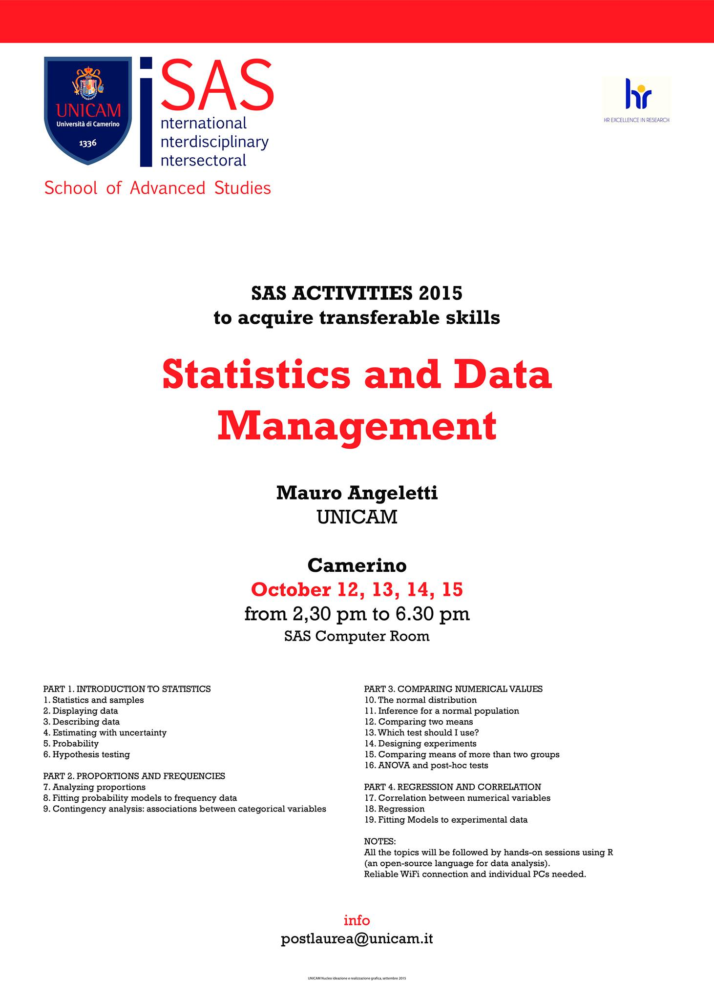 Statistics and Data management