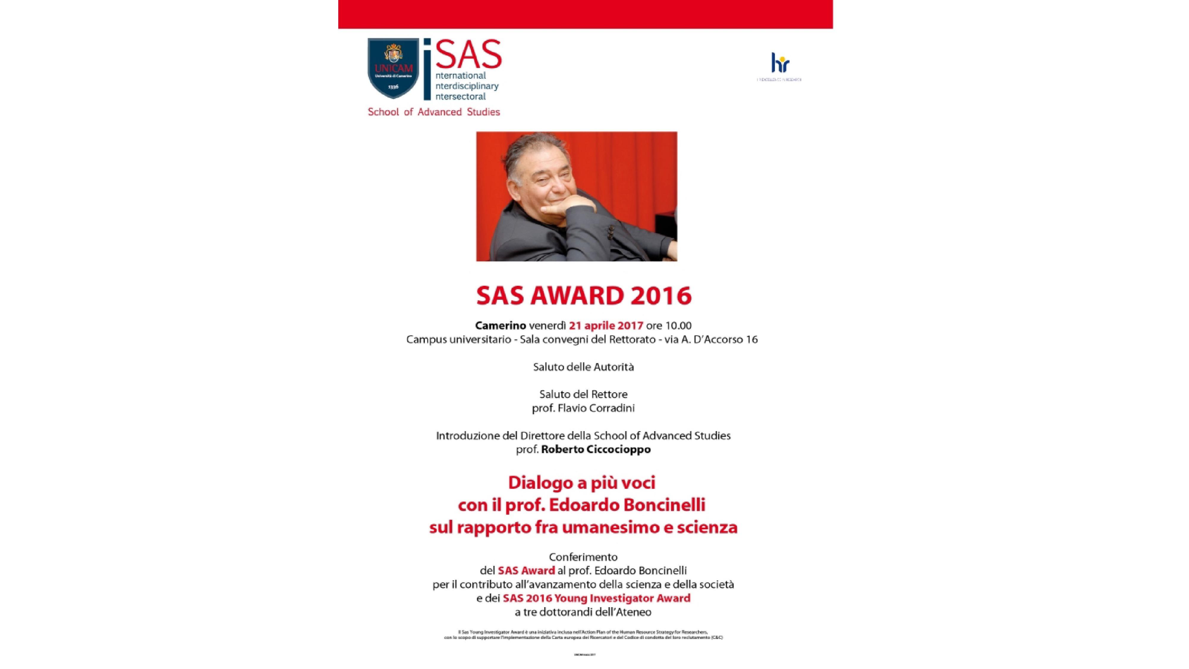SAS AWARD 2016 - prize-giving ceremony