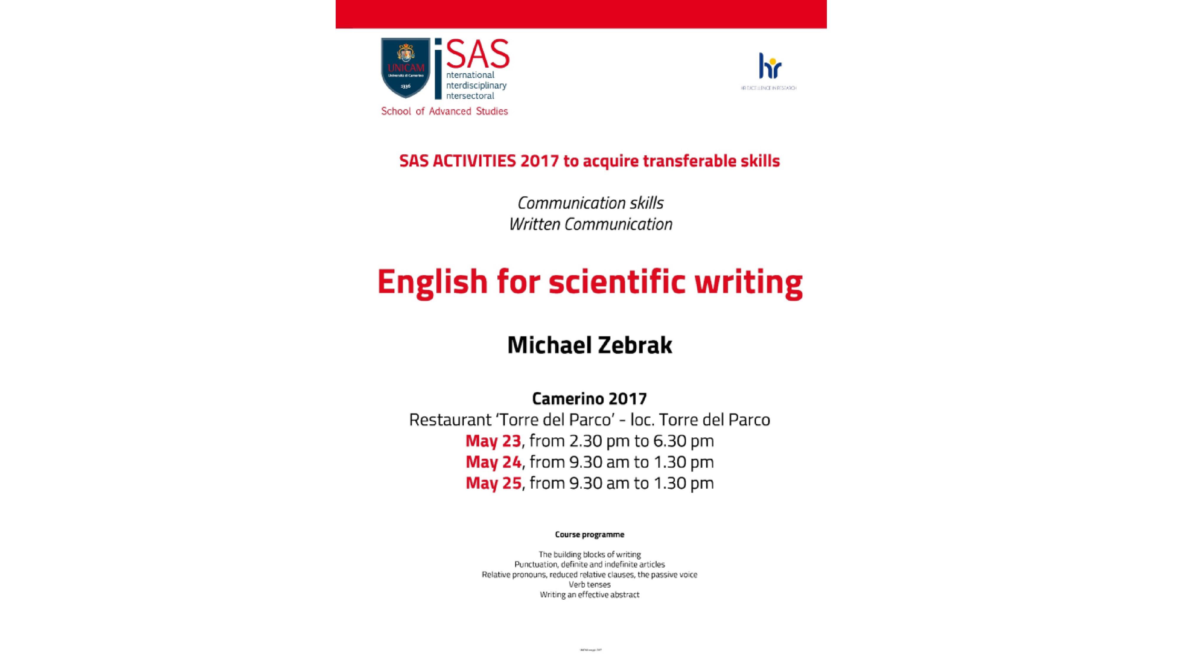 Scientific English