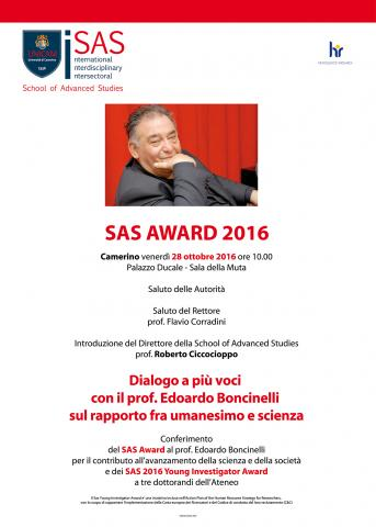 SAS AWARD 2016 - prize-giving ceremony