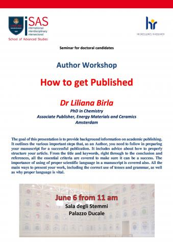 Author workshop