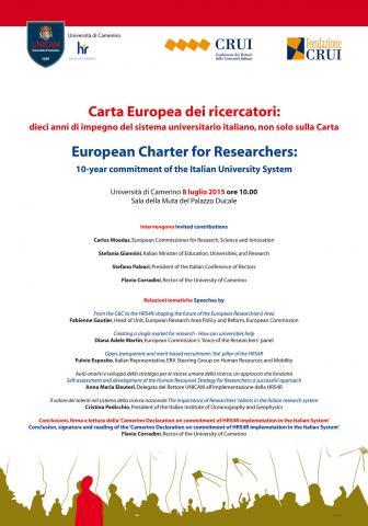 Carta Europea dei Ricercatori