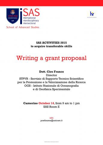 Writing a grant proposal