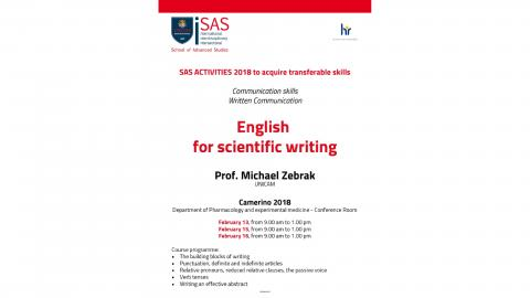 English for scientific writing